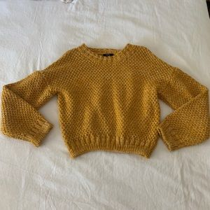 Yellow Cable Knit Sweater